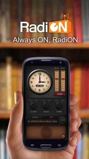 Androidアプリ「RadiON Free」のスクリーンショット 1枚目