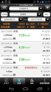 Androidアプリ「DriveMate Fuel」のスクリーンショット 2枚目