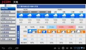 Androidアプリ「ウェザーニュース for J:COM」のスクリーンショット 2枚目