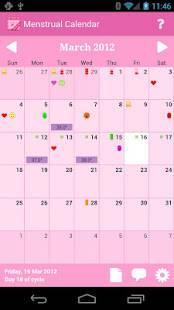 Androidアプリ「Menstrual Calendar Premium」のスクリーンショット 1枚目