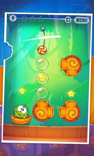 Androidアプリ「Cut the Rope: Experiments FREE」のスクリーンショット 1枚目