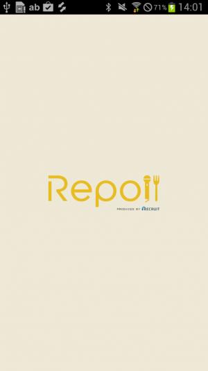 Androidアプリ「テレビで取材された飲食店が満載 Repo!/レポ」のスクリーンショット 1枚目