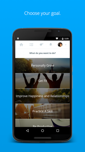Androidアプリ「Coach.me - Instant Coaching」のスクリーンショット 1枚目