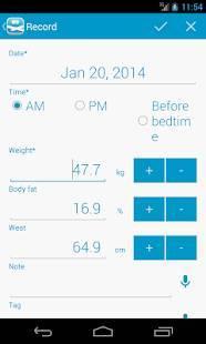 Androidアプリ「peso - ダイエット・体重管理」のスクリーンショット 2枚目