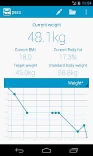 Androidアプリ「peso - ダイエット・体重管理」のスクリーンショット 1枚目