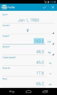 Androidアプリ「peso - ダイエット・体重管理」のスクリーンショット 5枚目