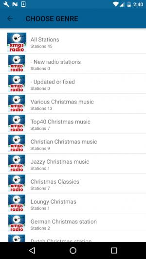 Androidアプリ「クリスマス ラジオ (Christmas RADIO)」のスクリーンショット 3枚目