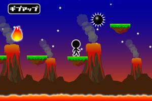Androidアプリ「溶岩ジャンプ」のスクリーンショット 4枚目