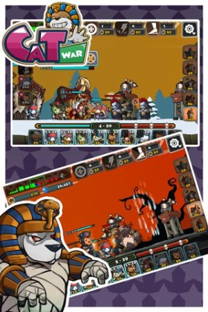 Androidアプリ「ねこ戦争」のスクリーンショット 4枚目