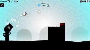 Androidアプリ「飛べぇぇ!ヒーロー [挑戦状!スワイプで細い島に着地せよ!]」のスクリーンショット 2枚目