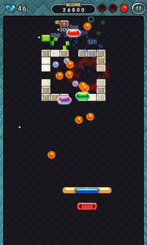 Androidアプリ「ブロック崩し 2012」のスクリーンショット 3枚目
