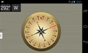 Androidアプリ「正確なコンパス」のスクリーンショット 2枚目
