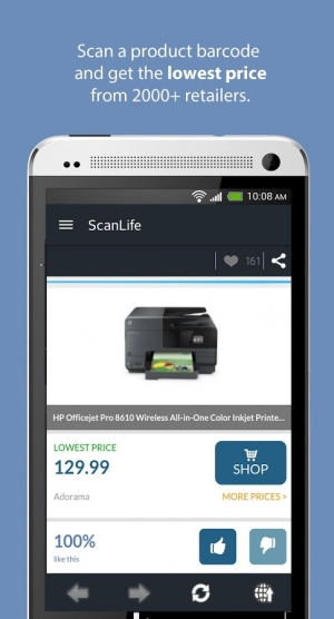 Androidアプリ「ScanLife Barcode & QR Reader」のスクリーンショット 2枚目