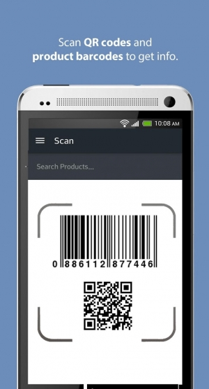 Androidアプリ「ScanLife Barcode & QR Reader」のスクリーンショット 1枚目