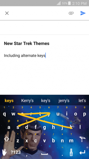 Androidアプリ「Swype Keyboard Trial」のスクリーンショット 2枚目