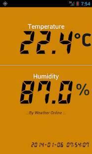Androidアプリ「デジタル温度計」のスクリーンショット 2枚目