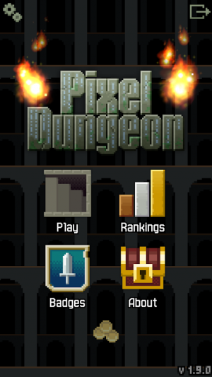 Androidアプリ「Pixel Dungeon」のスクリーンショット 1枚目