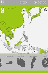 Androidアプリ「あそんでまなべる 世界地図パズル」のスクリーンショット 4枚目