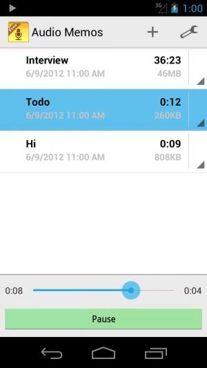 Androidアプリ「Audio Memos Free」のスクリーンショット 2枚目