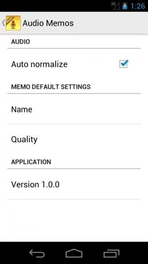 Androidアプリ「Audio Memos Free」のスクリーンショット 5枚目
