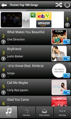 Androidアプリ「USA Hits!(無料)」のスクリーンショット 2枚目