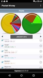 Androidアプリ「PocketMoney」のスクリーンショット 1枚目
