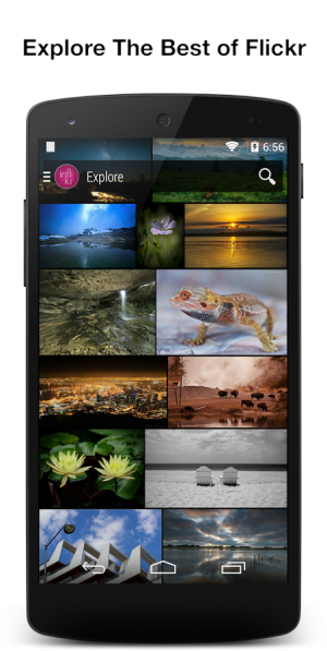 Androidアプリ「Inflikr for Flickr」のスクリーンショット 1枚目