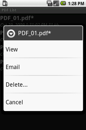 Androidアプリ「Scan2PDF Mobile Lite」のスクリーンショット 2枚目