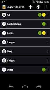Androidアプリ「Loader Droid download manager」のスクリーンショット 2枚目