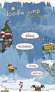 Androidアプリ「Doodle Jump Christmas Special」のスクリーンショット 1枚目