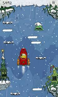 Androidアプリ「Doodle Jump Christmas Special」のスクリーンショット 5枚目