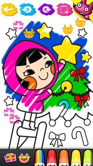 Androidアプリ「わお!クリスマスぬりえ」のスクリーンショット 5枚目