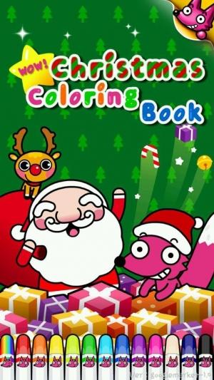 Androidアプリ「わお!クリスマスぬりえ」のスクリーンショット 1枚目