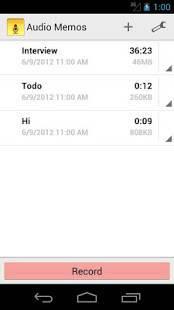 Androidアプリ「Audio Memos - Voice Recorder」のスクリーンショット 4枚目