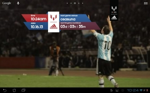 Androidアプリ「Official Messi Live Wallpaper」のスクリーンショット 4枚目