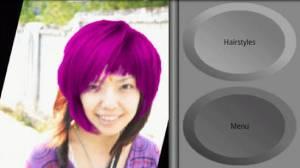 Androidアプリ「トライ ヘアースタイル」のスクリーンショット 2枚目