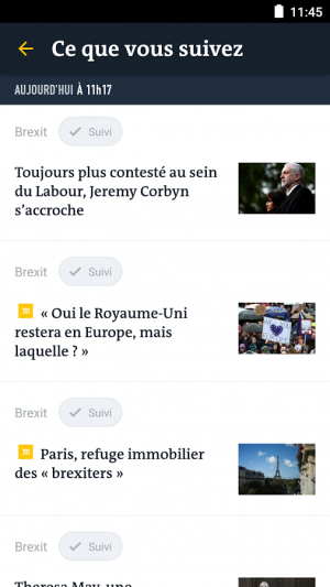Androidアプリ「Le Monde, l'info en continu」のスクリーンショット 5枚目