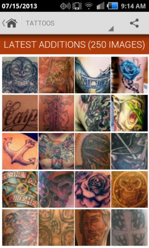 Androidアプリ「Tattoo Gallery」のスクリーンショット 2枚目