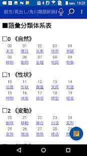 Androidアプリ「角川類語新辞典(KADOKAWA)」のスクリーンショット 2枚目