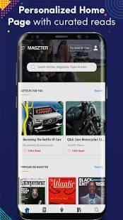 Androidアプリ「Magzter - Reading Destination」のスクリーンショット 1枚目