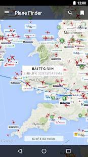 Androidアプリ「Plane Finder - Flight Tracker」のスクリーンショット 1枚目