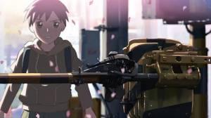 Androidアプリ「秒速5センチメートル/ストーリー画集Ⅰ「桜花抄」編」のスクリーンショット 2枚目