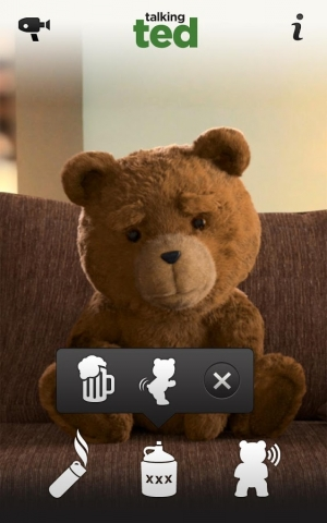 Androidアプリ「Talking Ted LITE」のスクリーンショット 2枚目