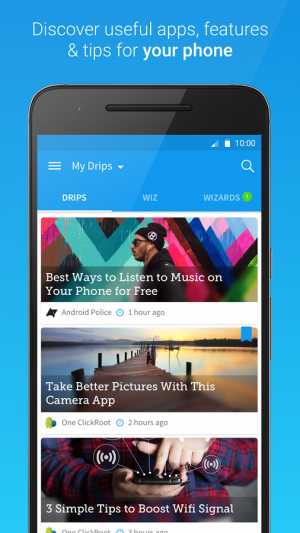 Androidアプリ「Drippler - Android Tips & Apps」のスクリーンショット 1枚目