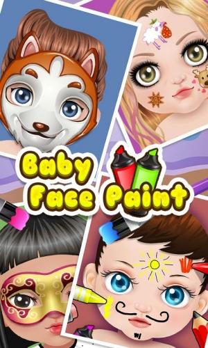 Androidアプリ「ベビーフェイスアートペイント - 子供のゲーム」のスクリーンショット 1枚目