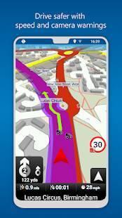 Androidアプリ「MapFactor GPS Navigation Maps」のスクリーンショット 4枚目