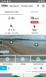 Androidアプリ「MSW Surf Forecast」のスクリーンショット 1枚目