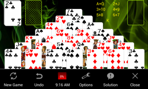 Androidアプリ「Pyramid Solitaire」のスクリーンショット 5枚目