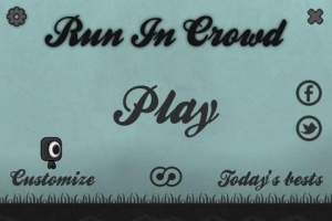 Androidアプリ「Run In Crowd」のスクリーンショット 1枚目