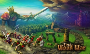 Androidアプリ「First Wood War」のスクリーンショット 1枚目